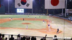 ▲業餘主體台灣中華隊在亞運擊敗全職業韓國隊。(圖/蕭保祥攝影)