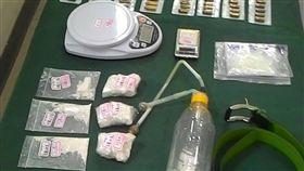 台中毒販擁槍被捕來不及吞劇毒/翻攝畫面