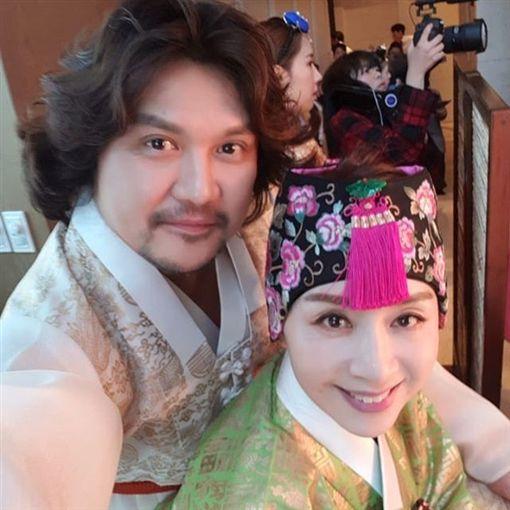 南韓女星朴海美、老公黃敏 圖翻攝自IG