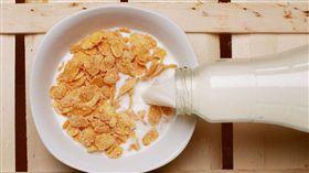 玉米片,牛奶,早餐 示意圖/Pixabay