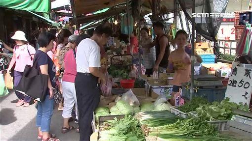 淹水效應! 地瓜葉漲6成 全雞下週恐破5百元,菜價,漲價,市場,買菜,賣菜,菜市場