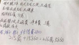 車禍索賠清單/臉書爆怨公社
