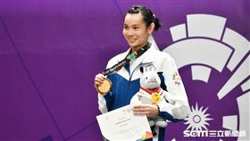 雅加達亞運戴資穎奪羽球女單金牌。(圖/記者王怡翔攝影)