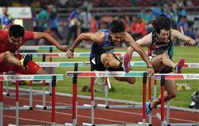 ▲陳奎儒在亞運奪下跨欄110公尺銀牌。(圖/中華奧會提供)