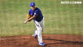 雅加達亞運中華棒球隊投手王玉譜。(圖/記者王怡翔攝影)