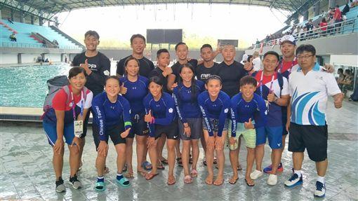 亞運輕艇水球中華隊。(圖/中華奧會提供)