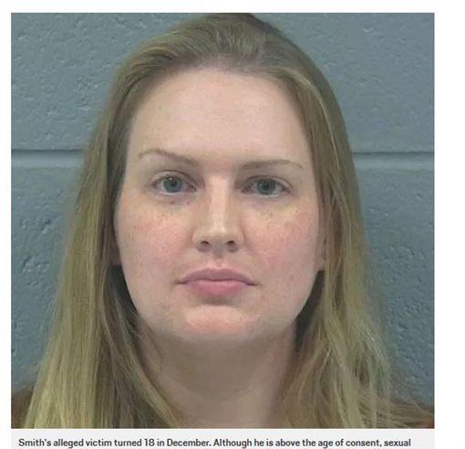 女教師與男學生發生不倫戀,被控二級性侵罪。(圖/翻攝自每日郵報)