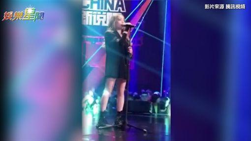 VAVA擔任《新說唱》大魔王的演出片段流出。(圖/翻攝自騰訊視頻)