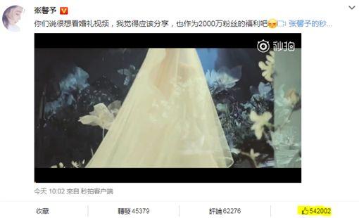 張馨予/翻攝自微博