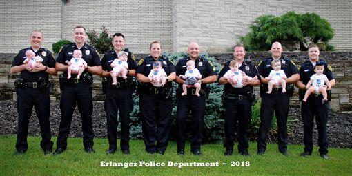 美國,警員,懷孕(圖/翻攝自Erlanger Police Department臉書)