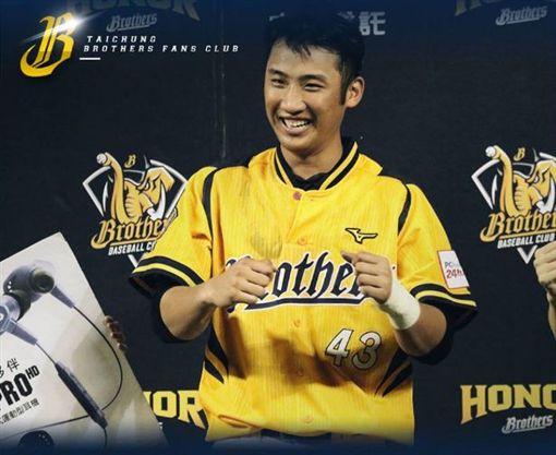 林逸書獲選最單MVP。(圖/翻攝自兄弟Fans Club 臉書)