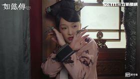 大陸女星何泓珊在《如懿傳》扮演「白蕊姬」玫貴人/鞭打周迅。(愛奇藝台灣站提供)