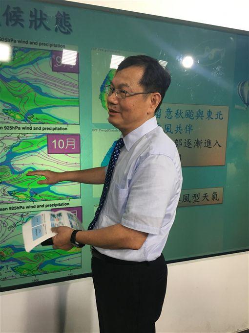 氣象預報中心,主任,呂國臣,/記者蕭筠攝影