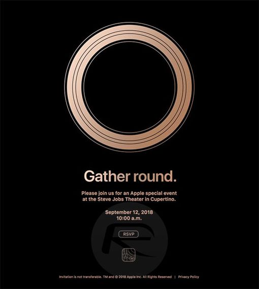 iPhone秋季發表會邀請函。(圖/翻攝自推特)