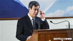 副總統陳建仁出席2017年終總統府媒體茶敘並致詞。 圖/記者林敬旻攝