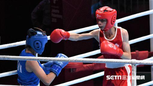 台灣拳擊女將林郁婷。(圖/記者王怡翔攝影)