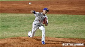 亞運棒球中華隊先發投手林樺慶。(圖/記者王怡翔攝影)