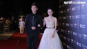 《再見瓦城》男、女主角柯震東與吳可熙步入紅毯。(圖/記者邱榮吉攝影)