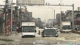 廣東連日暴雨 120萬人受災(圖/翻攝人民日報)