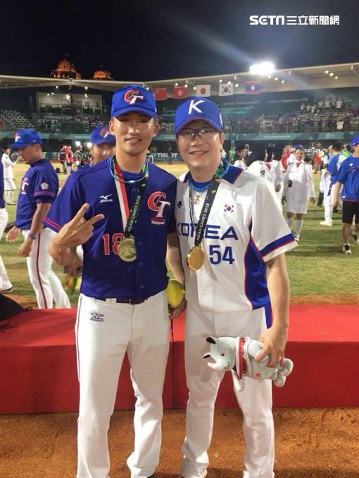 吳昇峰,韓國,中華,棒球,梁玹種,亞運圖/吳昇峰選手授權提供