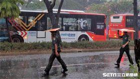 雅加達亞運閉幕式下大雨。(圖/記者王怡翔攝影)