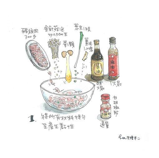 好市多手繪食譜。(圖/取自臉書)