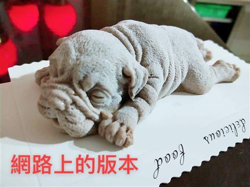 女怨網購狗狗冰,竟收到像腐屍一樣的狗。(圖/翻攝爆廢公社)