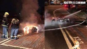 彰化鹿港體育場火燒車