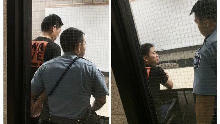 劉強東上銬被捕照及相關文件/翻攝自微博