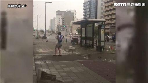 日本 燕子颱風 災情 圖/翻攝自AP
