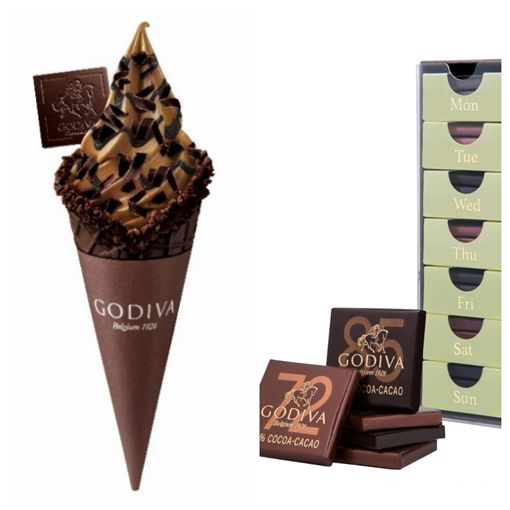 巧克力,霜淇淋,GODIVA