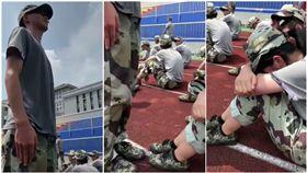 女學生軍訓累哭 男同學「立正幫擋太陽」超暖/秒拍