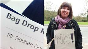 英國女博士不滿空姐叫她小姐,怒告「性別歧視」。(圖/翻攝Dr Siobhan O'Dwyer推特)