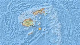 斐濟外海發生規模7.8地震/美國地質調查局網站