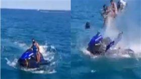 摩洛哥卡比拉海灘發生水上摩托車爆炸意外。(圖/翻攝自 The Mechanic YouTube)