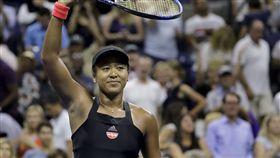 大坂直美成為首位打進美網女單決賽的日本球員。(圖/美聯社/達志影像)