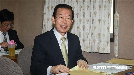 駐日代表謝長廷出席國防及外交委員會備詢。 圖/記者林敬旻攝