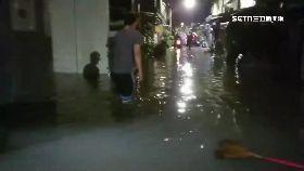 台南暴雨淹2400