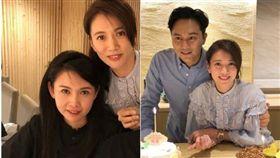 袁詠儀跟老公張智霖邀請了邱淑貞、周汶錡、伍詠薇、關心妍、「草蜢」蔡一智聚餐。(翻攝微博)
