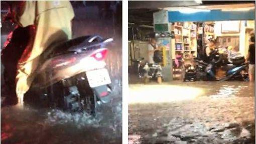 大雷雨,北北基,淹水,公館 圖/翻攝畫面