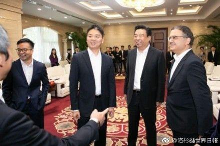 劉強東爆性侵醜聞,京東集團市值蒸發2135億美元。(圖/翻攝洛杉磯世界日報)