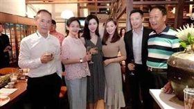 郭台銘舉辦家宴,廣邀兩岸政商界人士。(圖/翻拍自微博)
