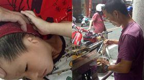 阿峰經歷妻子外遇,在南投賣關東煮、鳳梨酥和太陽餅籌兒子的醫藥費。(光線提供)