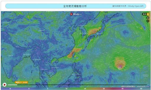 山竹颱風持續變強!一張圖曝威脅有多大(圖/翻攝自國家災害防救科技中心)