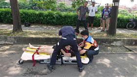 跳橋,無呼吸,急救,台南,翻攝畫面