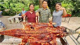 鱷魚,烤肉,轉念,泰國,手藝,調味,養殖,生意,皮革 圖/翻攝自泰國網