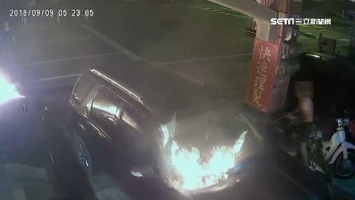 扯! 疑財務糾紛 66歲男持汽油桶縱火燒三車