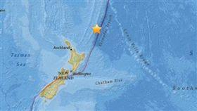 紐西蘭6.9強震 未發布海嘯警報 圖/美國地質調查局