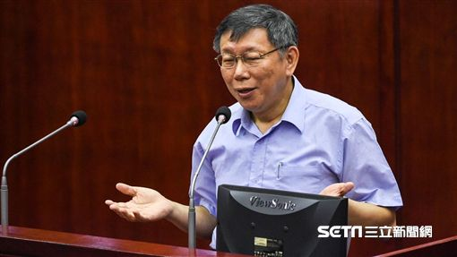 台北市長柯文哲出席台北市議會專案報告。 (圖/記者林敬旻攝)