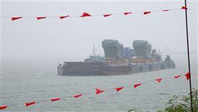 金門塔山電廠新機組大潮搶灘上岸 明年運作金門